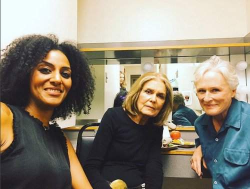 Sarah Jones, Gloria Steinem and Glen Close.jpg