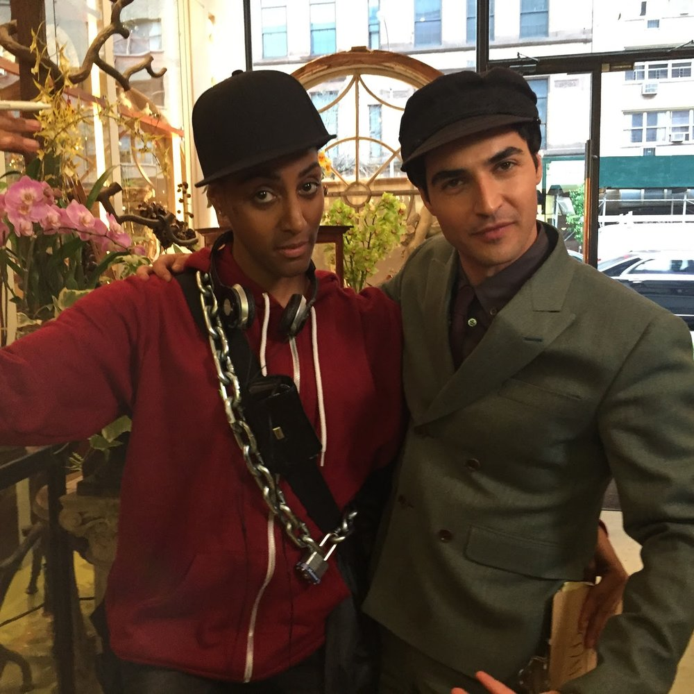 Sarah Jones as Rashid and Zac Posen.JPG