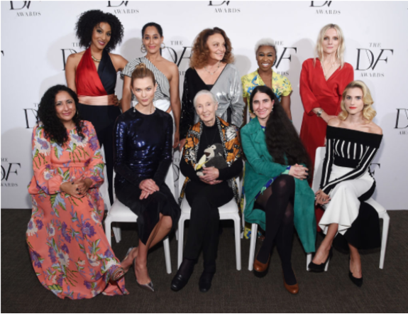 DVF Awards 2017 | Sarah Jones, Tracee Ellis Ross, Diane von Furstenberg, Cynthia Erivo, Laura Brown, Allison Williams, Karlee Kloss, Yaoni Sanchez, Baljeet Sandhu, Jane Goodall
