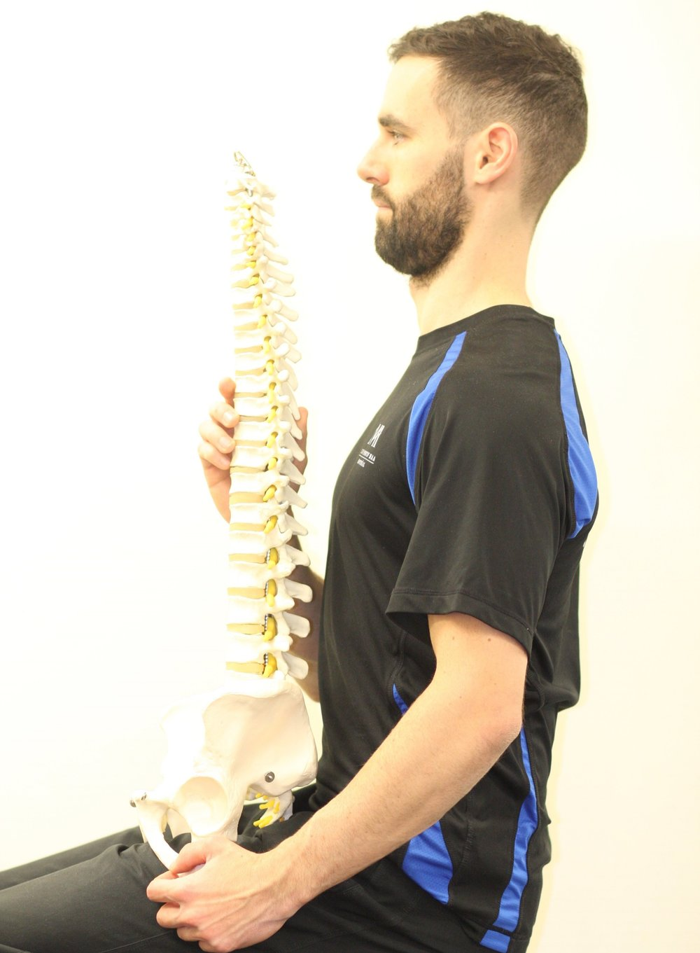 A straight, but not neutral, spine position
