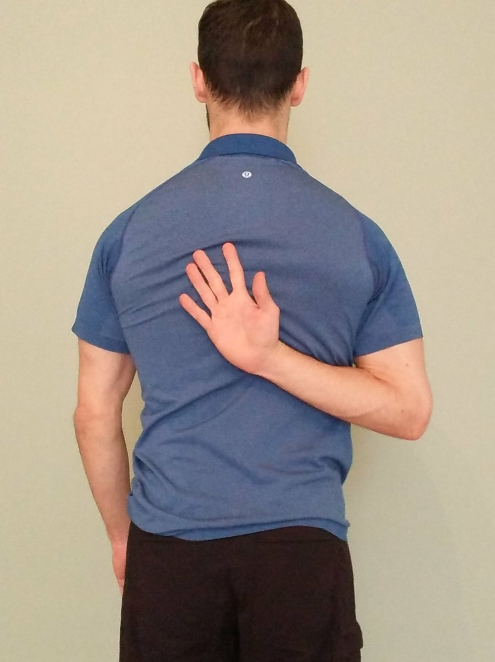 Hand behind back stretch
