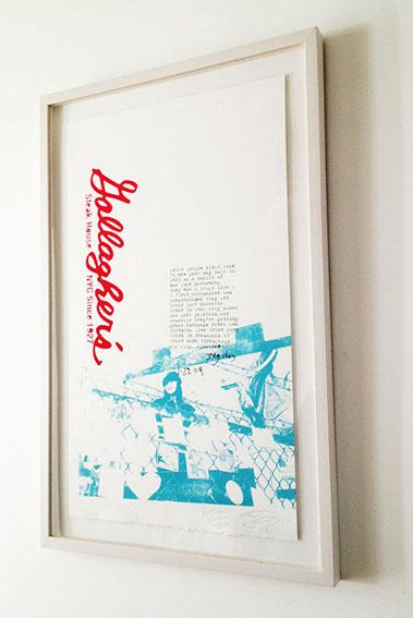 Gallagher's NYC (2011)   Medium: Screen print