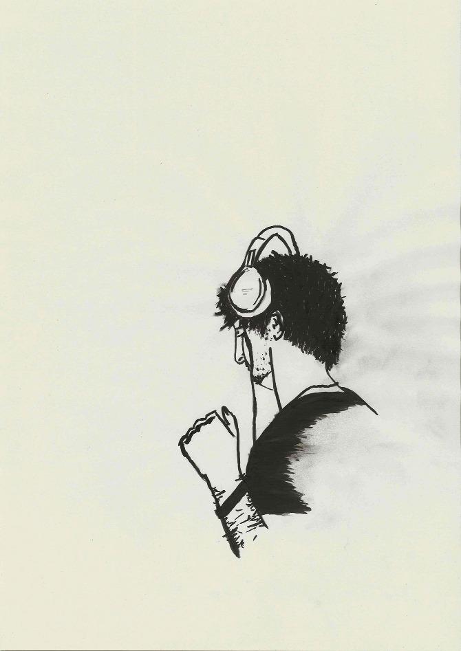 Bantum (2012)   Medium:Pencil, pen, charcoal, indian ink