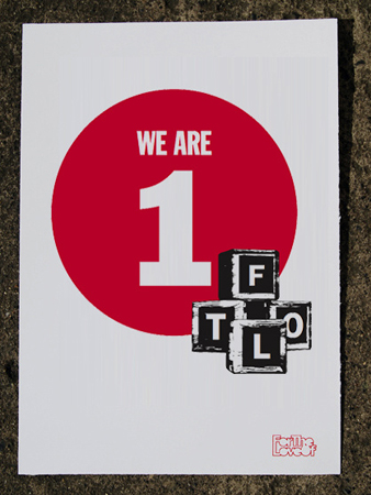 We Are 1, FTLO (2010)   Medium: Screen print