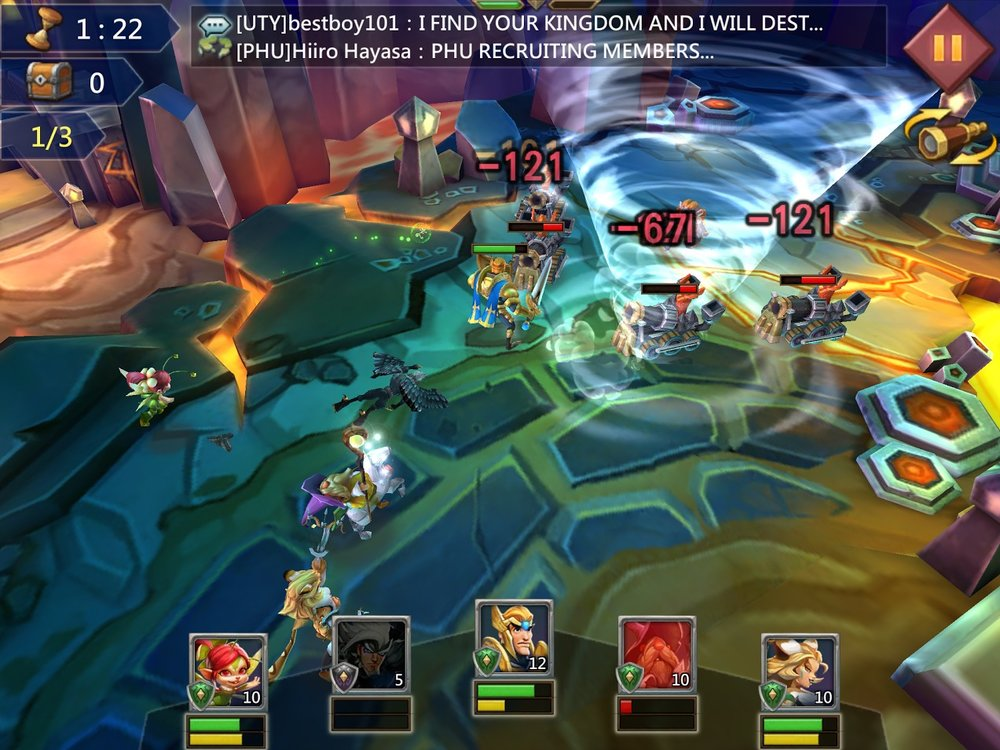 "Lords Mobile by IGG is an example of a ""5X"" game. It has a character battle game loop on top of the traditional as battle reports seen in most 4X games."