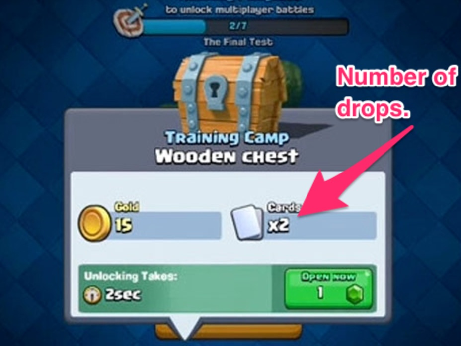 "A ""drop"" in a gacha is defined as giving away a single item. For example, in Clash Royale a drop would be synonymous with a single card dropped from a chest. Some designers also call this a ""pull"" — but for this article, I will call them drops."