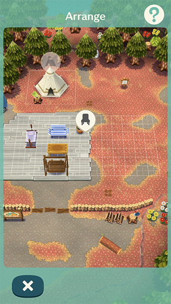 After crafting furniture, you can place items in your Campsite to express your own sense of creativity and decorative sense.
