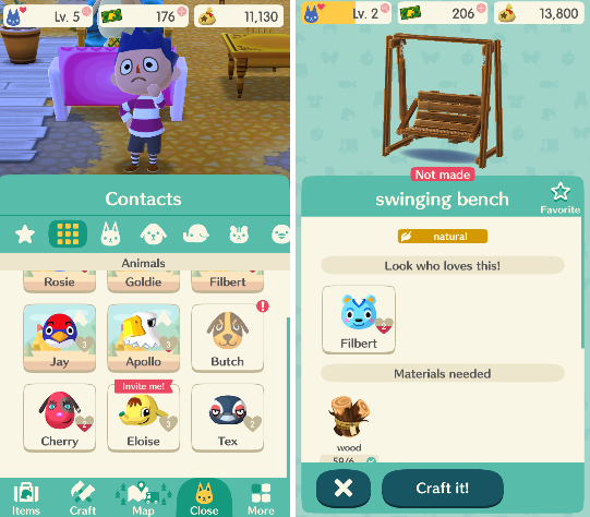 Animal Crossing does a good job at allowing players to quickly move between functions that will allow them to progress without getting lost in endless menus, a good improvement on the console versions.