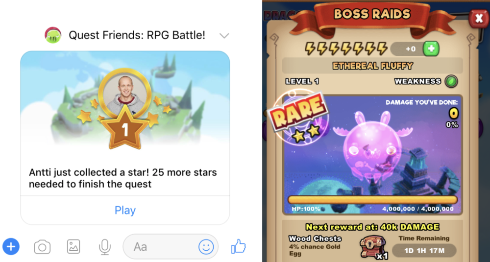 Games: Quest Friends by Mojiworks and Everwing by Game Closure