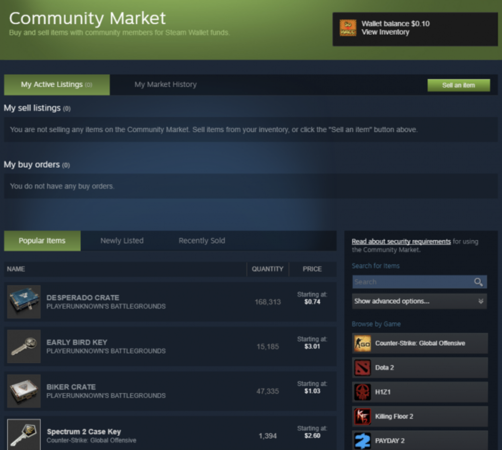 Steam's current Marketplace interface is not exactly noob-friendly
