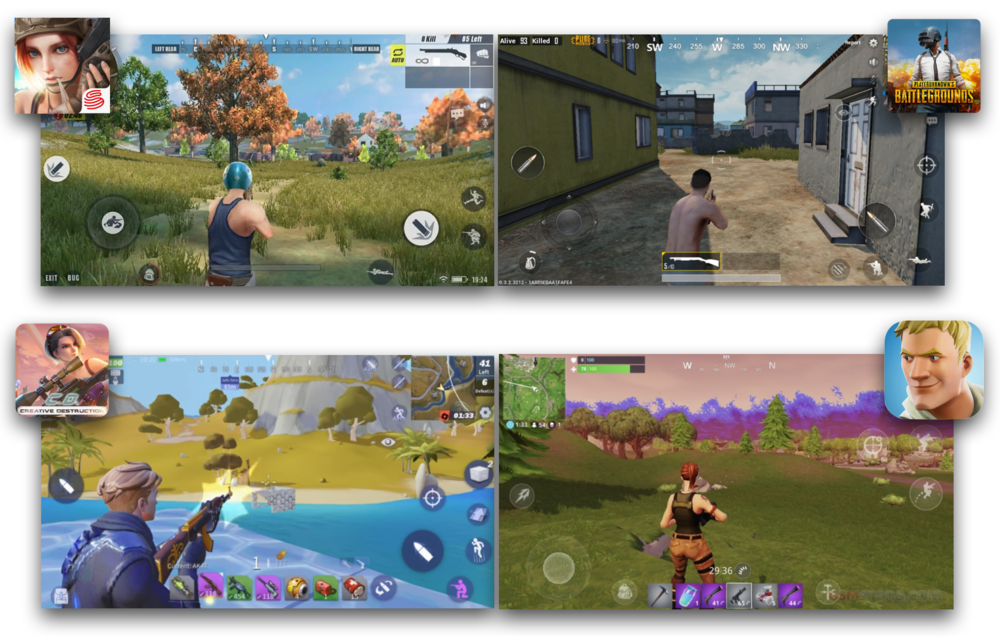 There's barely any difference between Rules of Survival and PUBG, nor between Fortnite and Creative Destruction - all resulting in lowering the chances of copycat titles to capture significant market share.