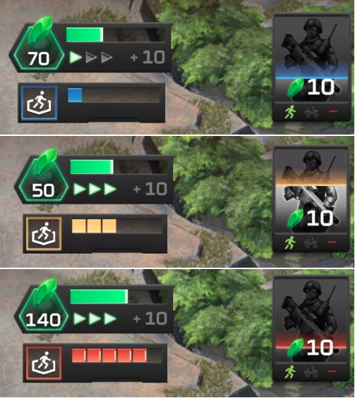 The game features artificial cool down timers, which prevent player from spawning troops despite having the resource to do so. This slows down the match and prevents many strategies players could employ.