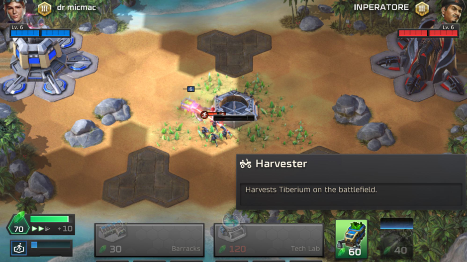 Players can invest into Harvesters to increase the speed of Tiberium accumulation
