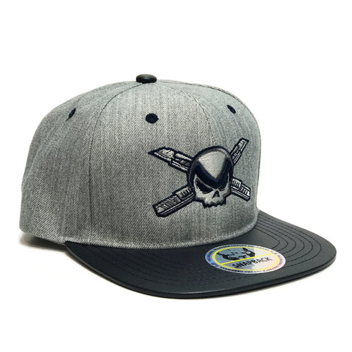 6563d9d049997 Grey   Navy Snapback Hat — Metro Group Miami