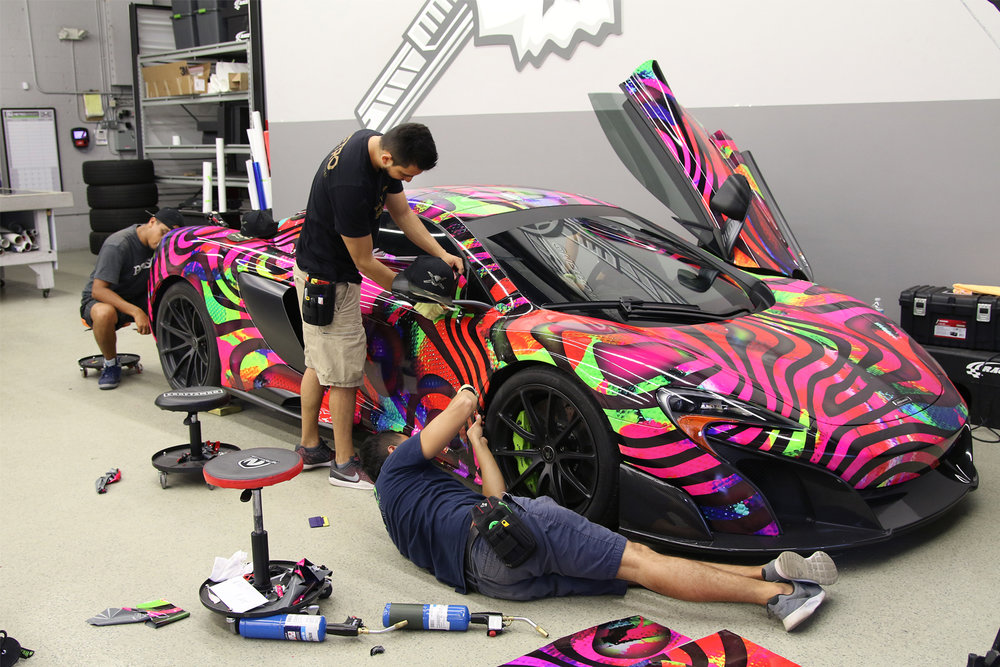 Miami Car Wrap South Florida McLaren Wrap Shop