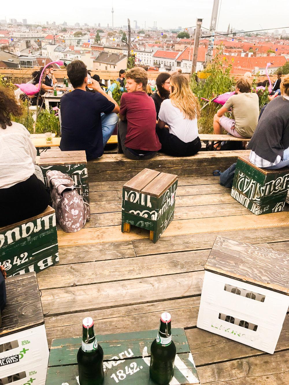 Rooftop bar in Berlin
