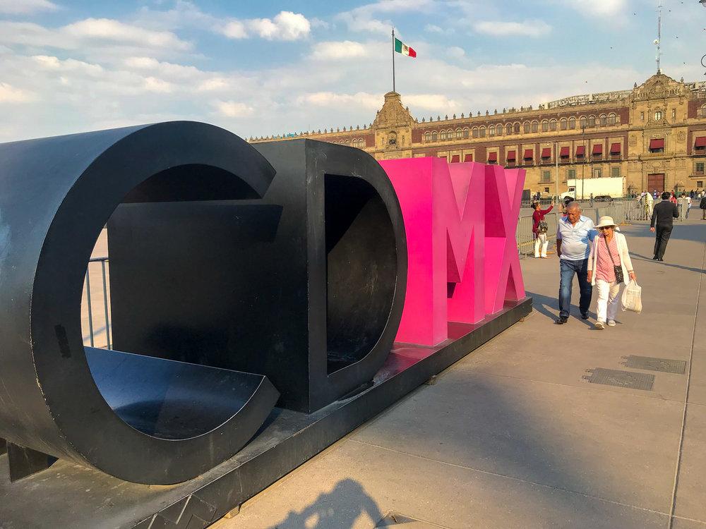 CDMX sign Mexico City