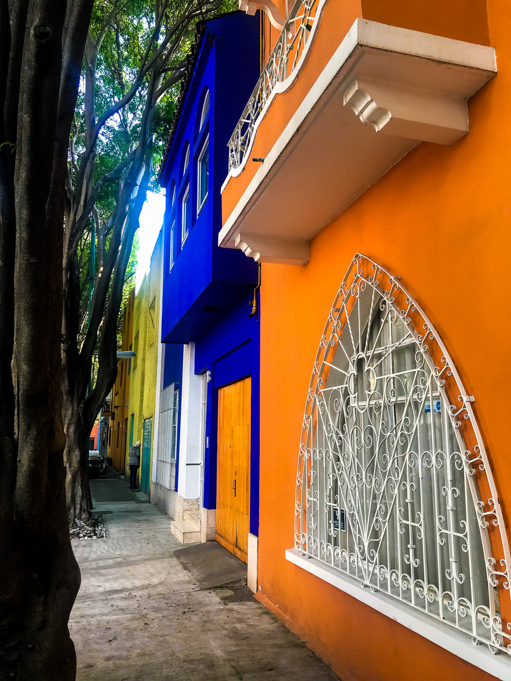 colorful houses CDMX