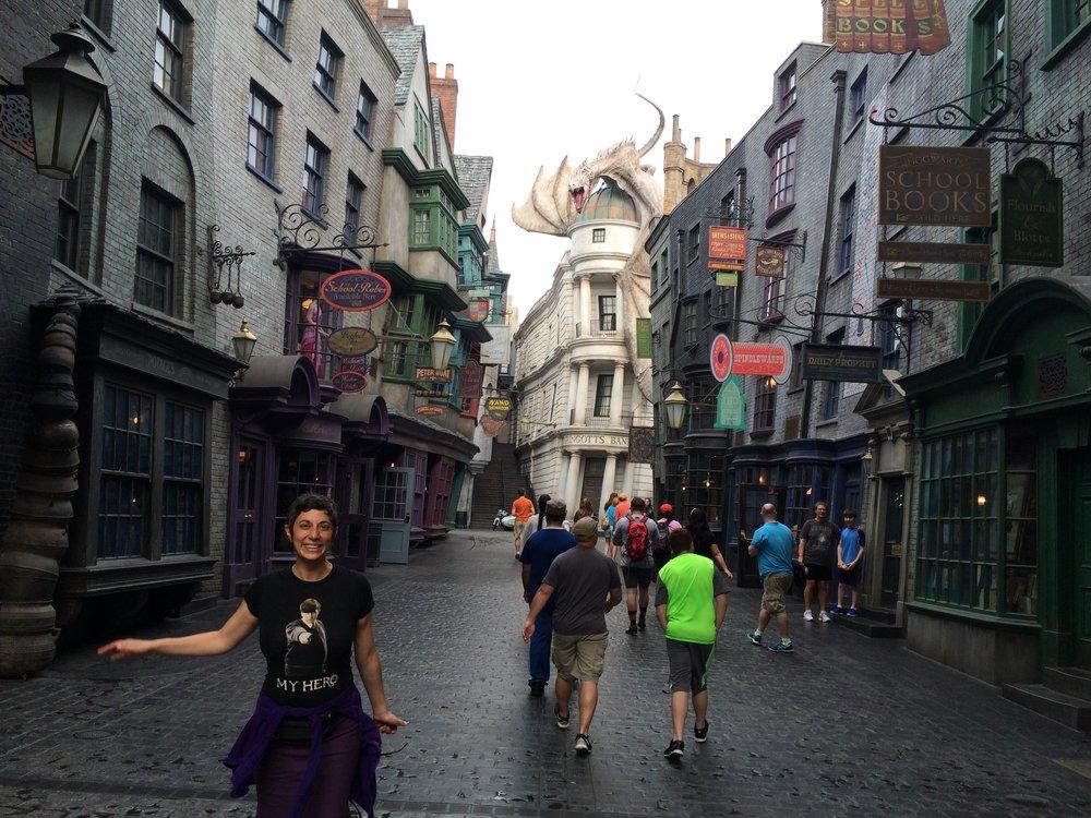 Diagon Alley at Universal Studios in Florida