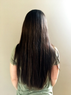 After: Hair washed, dried and brushed. Thick, shiny and smooth!