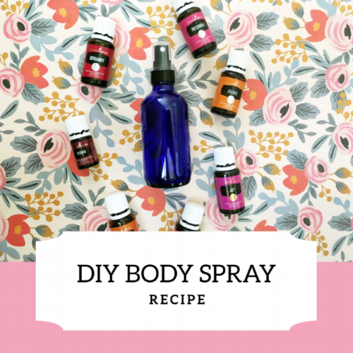 DIY gifts for mom- Body Spray