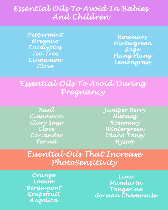 7 Things I Wish I Would Have Known When I Began Using Essential Oils.  A list of oils to use with caution.