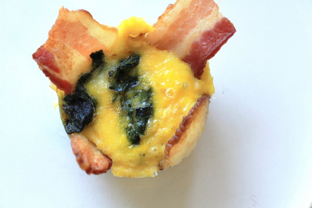 Paleo Bacon, Egg, Spinach & Carmelized Onion Muffins Recipe