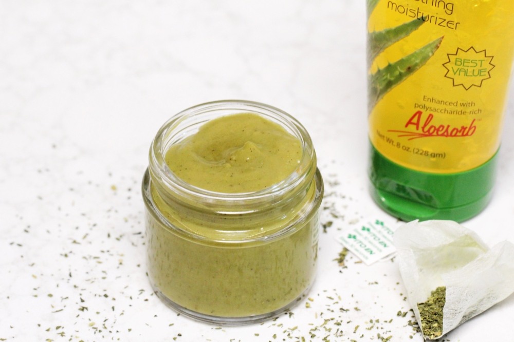 This   DIY after sun lotion is infused with aloe vera, green tea, coconut oil and essential oils. It is the best natural summer time lotion with the most amazing scent!