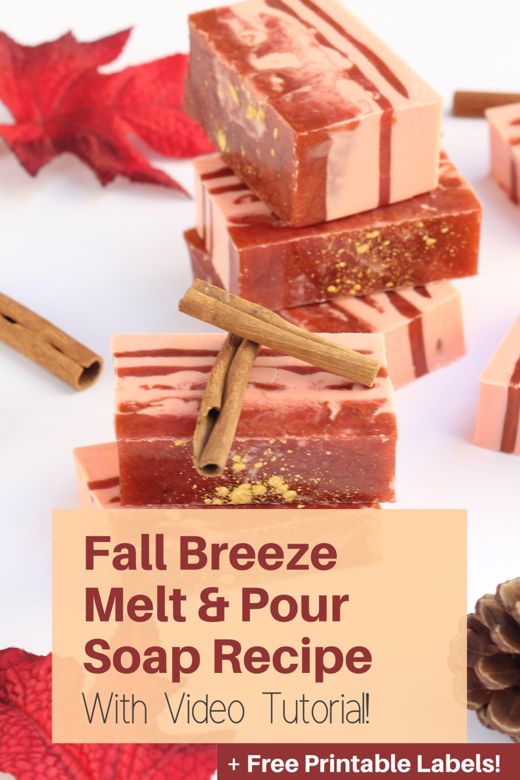 My first recipe in soap making, this recipe comes with a video tutorial and boasts the best scents of fall: pumpkin, crisp air, and falling leaves! Perfect hostess gift idea for the holiday season!