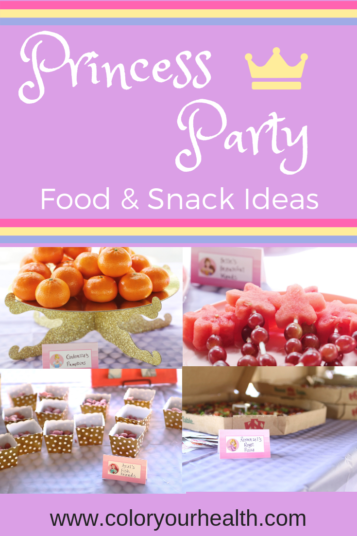 Disney princess party food ideas: cute names to turn any party food into royal princess dishes!