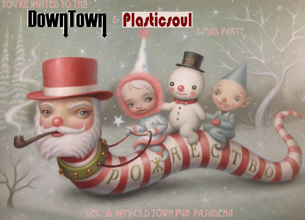 December 10th we're playing a show with our friends Plasticsoul! Come join us in Pasadena at the  Old Towne Pub !   It's a Christmas party!