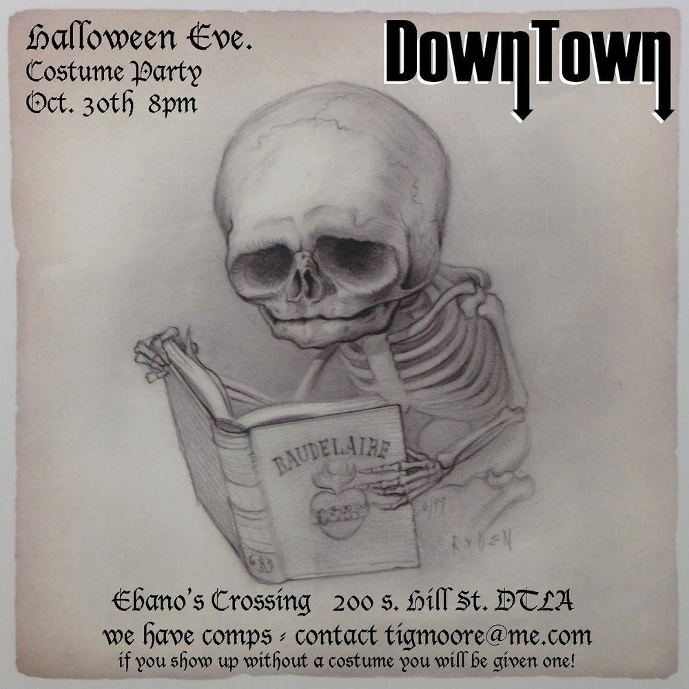 It's a Halloween bash y'all! Come join us on Halloween Eve at a brand new venue right in downtown Los Angeles! Come out and dance until you drop dead! We'll all be having fun in a costume, so make sure you have one! We'll see all you ghouls and ghosts there!