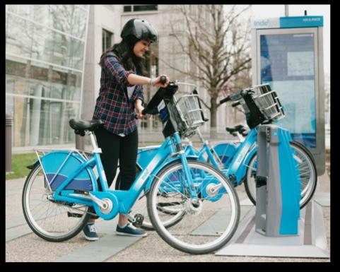 Figure 1 - Indego bike and kiosk