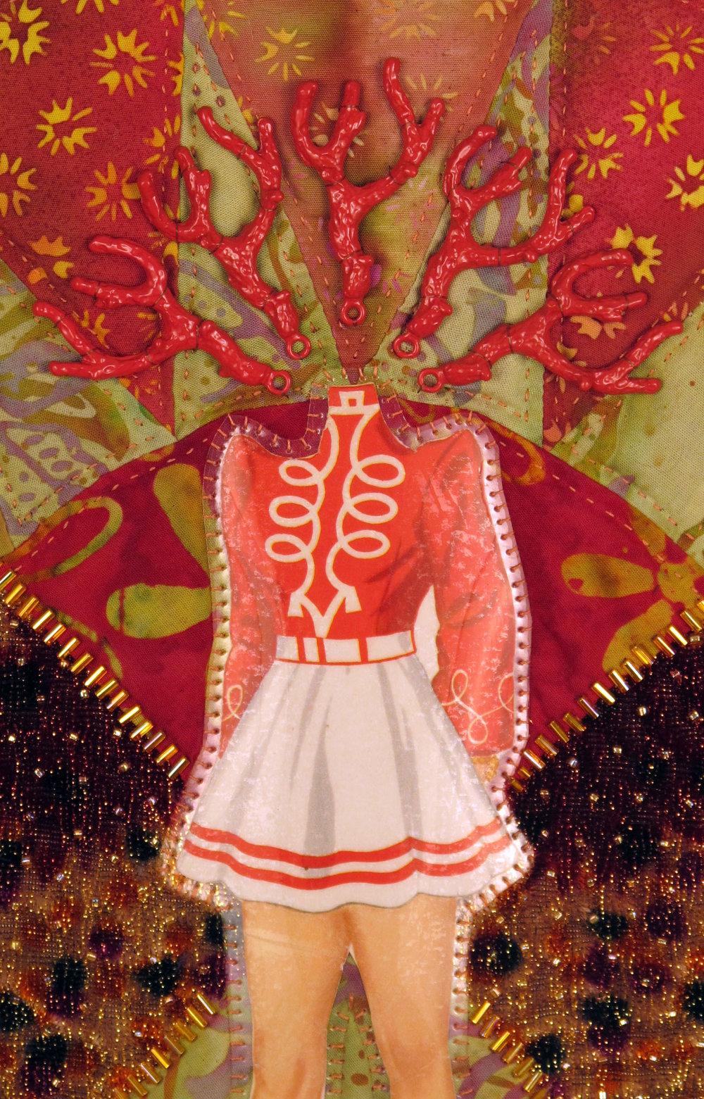 Warrior Figure (Blood Orange) (detail)