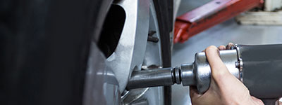 Tire service:  • Tire rotation  • Tire mounting  • Tire balancing  • Flat tire repair  • Tire replacement  • Wheel alignment  • Wheel repair and replacement