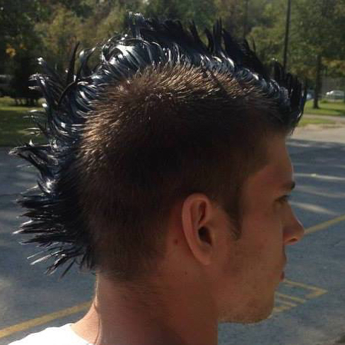 Day 4 of 5 for #facebookflashback profile pictures from oldest to newest. • Photo 1: Fall semester of my sophomore year of college (2013), a friend died my mohawk blue • Photo 2: Summer of 2014, I lived and worked with @kaufmannofsteel doing what was the most fun job I've ever had #itsthelight • What memories are waiting for you in you FB profile pictures? • @daburke03  @giantcarrotlegs  @swimbikerunocr  @homiswheretheheartis  and @ckenniee