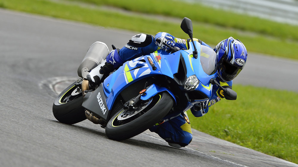 On track the Suzuki is a finely honed razor blade