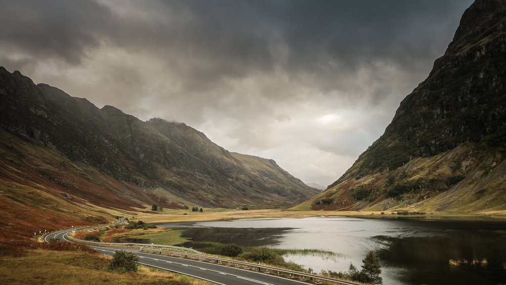 Scotland's impressive Glencoe. Brooding clouds mandatory. Picture: Ben Lindley