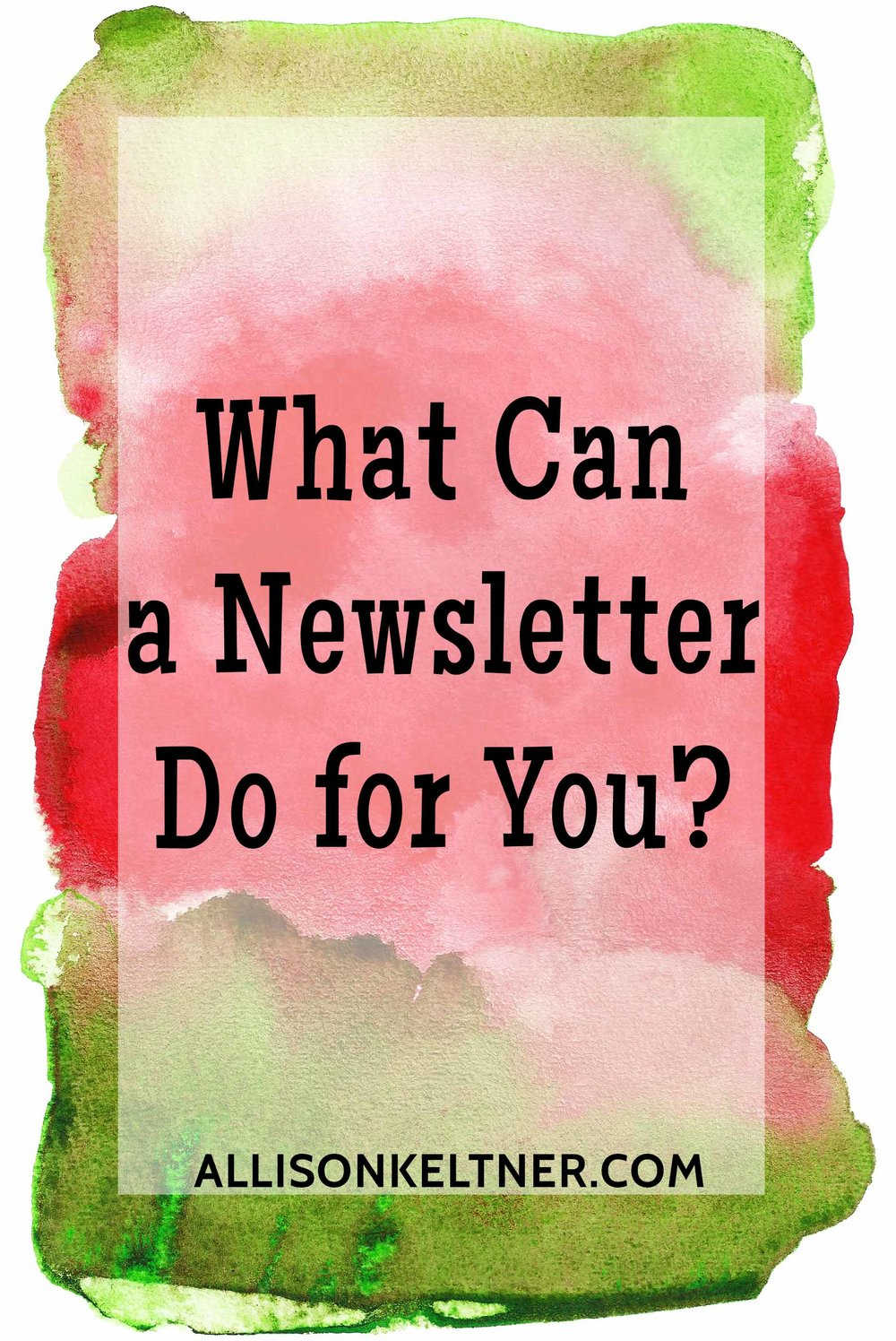 why do you need an email newsletter
