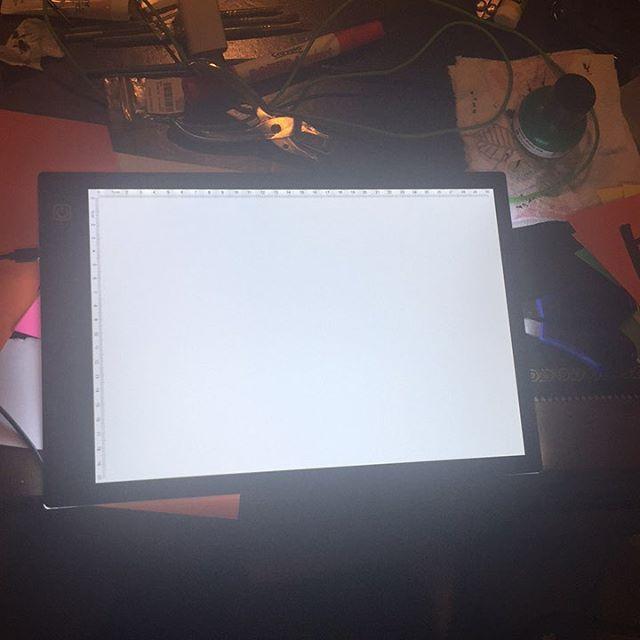 I got a NEW TOY y'all! #lightbox #illustration #doodle #kewl