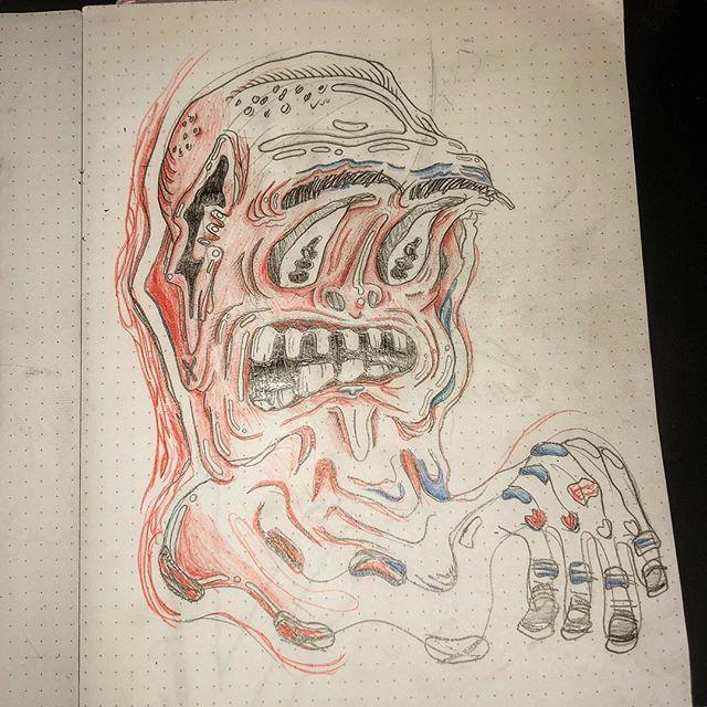 Sketchbook doodle WIP #illustration #pencil #idk #ghoul