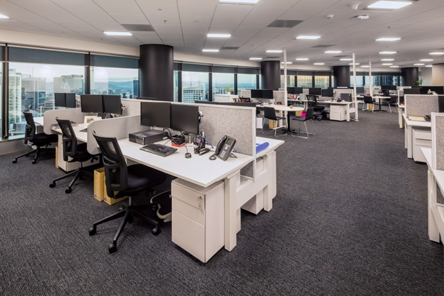 Modern Workstations at Chubb Brisbane