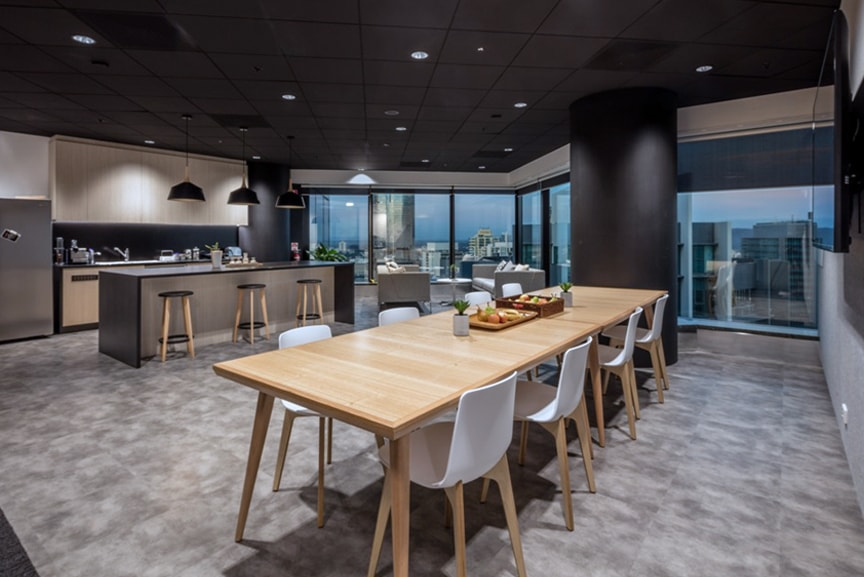 Kitchen Break Out Space At Chubb Brisbane