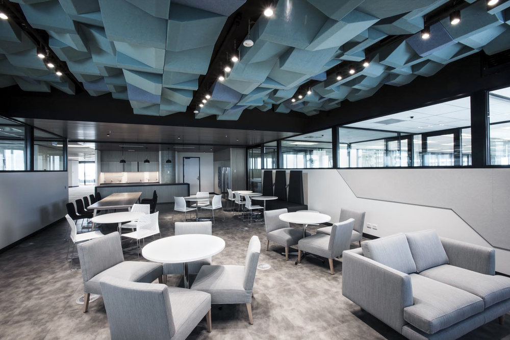 Tall Architects designed CHUBB's break out spaces as a way for employees to get away from their desks.