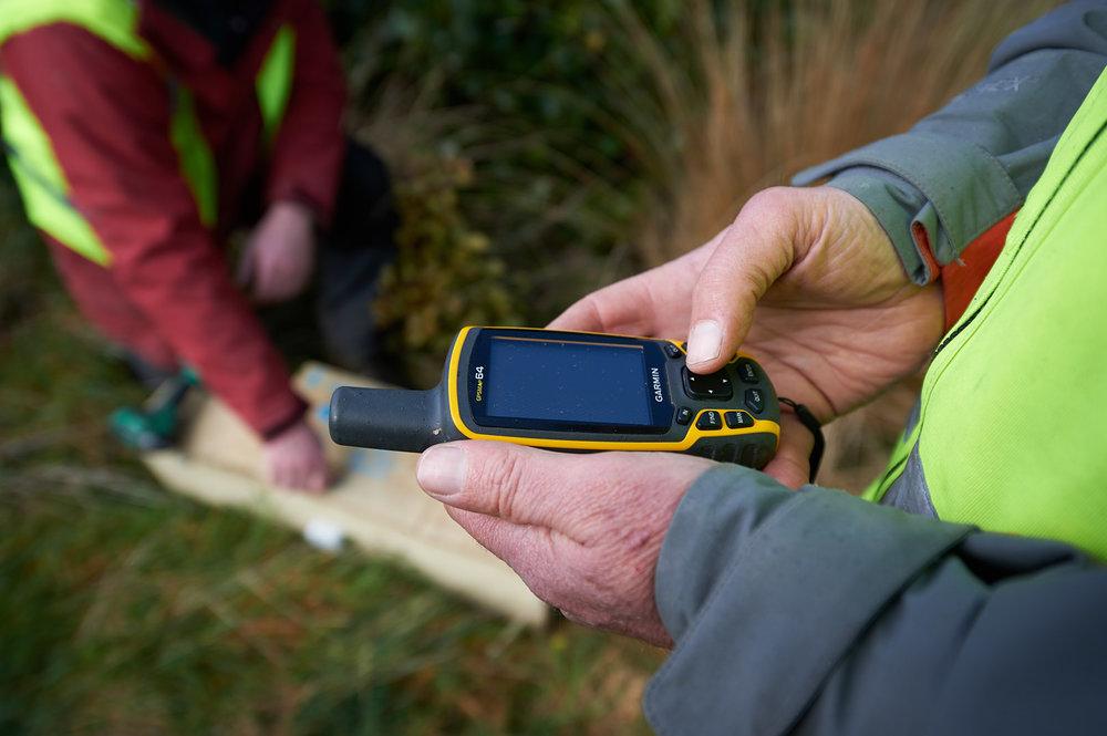 GPS marking traps