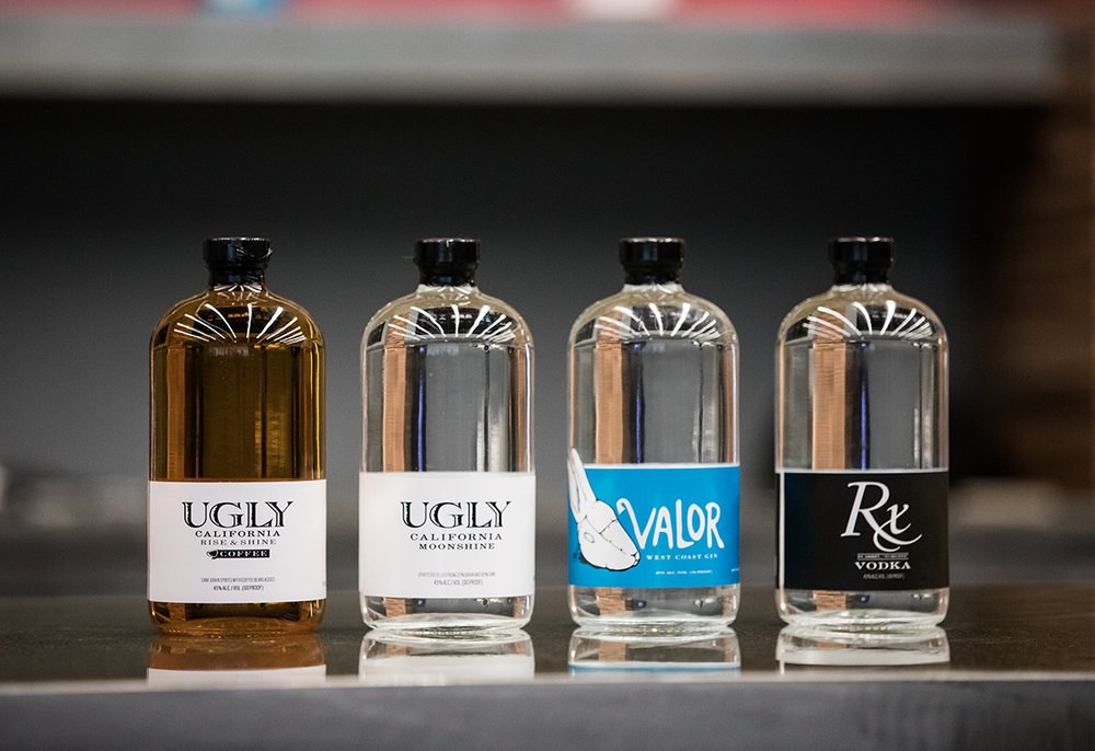 UGLY, Valor & rx - Three brands that help start San Diego craft distilling. Exceptionally smooth and distinctive, the strong character of these products set the standard for local craft distillers.