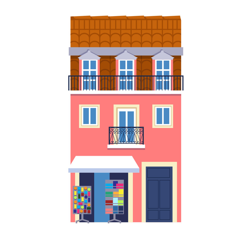 Souvenir shops are all around in Lisbon. Many of them selling unique the work of local illustrators and artisans.