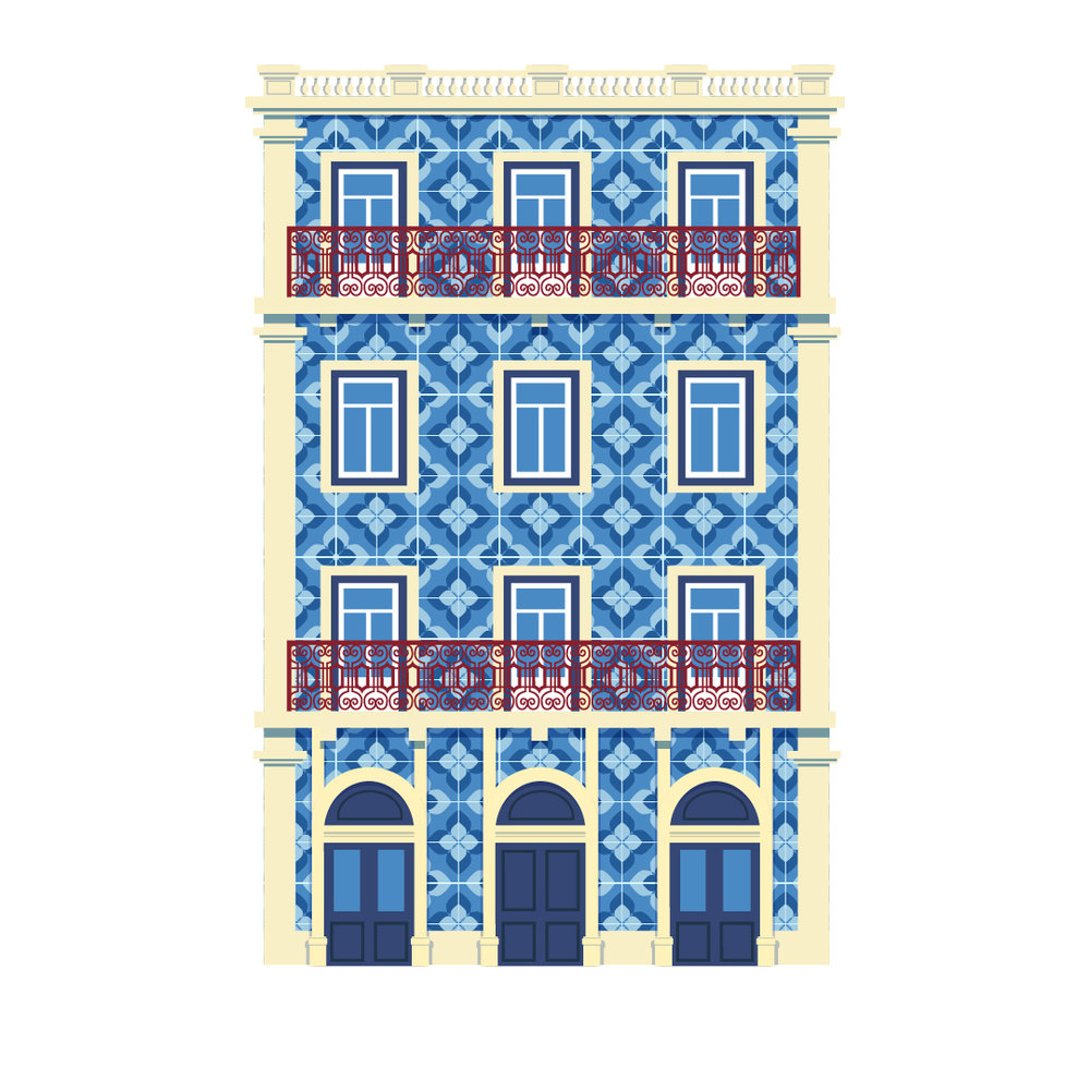 When I saw this building, nearPraça do Comercio, I got the instant itch to illustrate it