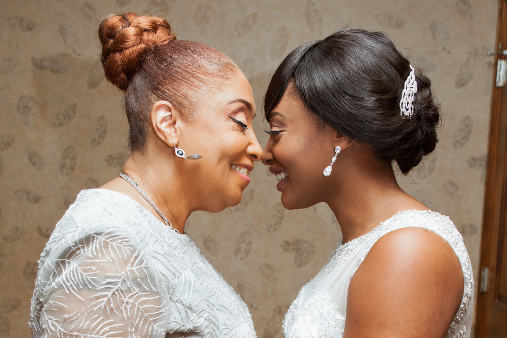 Marquita and her Mother share moment like they did when Marquita was a little girl.