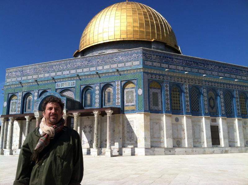 Brad Wetzler, at the Dome of the Rock in Jerusalem.